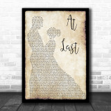 Etta James At Last Song Lyric Man Lady Dancing Music Wall Art Print