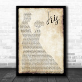 Goo Goo Dolls Iris Man Lady Dancing Song Lyric Music Wall Art Print