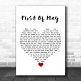 First Of May Grey Heart Song Lyric Quote Music Print