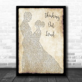 Ed Sheeran Thinking Out Loud Song Lyric Man Lady Dancing Music Wall Art Print