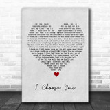 Sara Bareilles I Choose You Grey Heart Song Lyric Quote Music Print