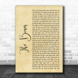 Maren Morris The Bones Rustic Script Song Lyric Quote Music Print