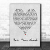 Old Dominion One Man Band Grey Heart Song Lyric Quote Music Print