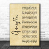 Shinedown Amaryllis Rustic Script Song Lyric Quote Music Print