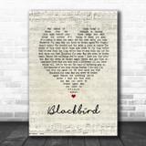 Alter Bridge Blackbird Script Heart Song Lyric Quote Music Print