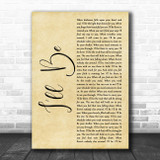 Reba McEntire I'll Be Rustic Script Song Lyric Quote Music Print
