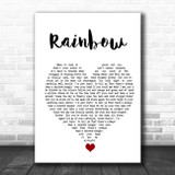 Kacey Musgraves Rainbow White Heart Song Lyric Quote Music Print