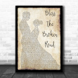 Rascal Flatts Bless The Broken Road Song Lyric Man Lady Dancing Music Wall Art Print