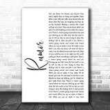 Lee Brice Rumor White Script Song Lyric Quote Music Print