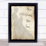The Beatles Here Comes The Sun Song Lyric Man Lady Dancing Music Wall Art Print