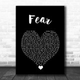 Blue October Fear Black Heart Song Lyric Quote Music Print