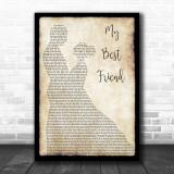 Tim McGraw My Best Friend Song Lyric Man Lady Dancing Music Wall Art Print