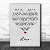 Phillip Phillips Home Grey Heart Song Lyric Quote Music Print