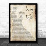 Any Song Lyrics Custom Dancing Couple Wall Art Personalized Lyrics Music Wall Art Print