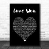 Jelly Roll & Struggle Jennings Love Won Black Heart Song Lyric Wall Art Print