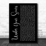 Godsmack Under Your Scars Black Script Song Lyric Wall Art Print