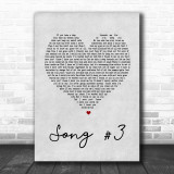 Stone Sour Song 3 Grey Heart Song Lyric Music Wall Art Print