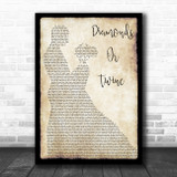 Ryan Hurd Diamonds Or Twine Man Lady Dancing Song Lyric Wall Art Print