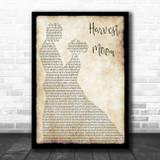 Neil Young Harvest Moon Man Lady Dancing Song Lyric Wall Art Print