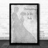 John Legend Conversations In The Dark Grey Man Lady Dancing Song Lyric Wall Art Print