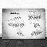 Blink-182 Always Man Lady Couple Grey Song Lyric Wall Art Print