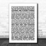 Simple Minds Don't You (Forget About Me) Lyric Art Song Lyric Wall Art Print