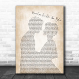Stephanie Mills Never Knew Love Like This Before Man Lady Bride Groom Wedding Song Lyric Wall Art Print