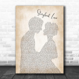 Mark Knopfler & Willy DeVille Storybook Love Man Lady Bride Groom Wedding Song Lyric Wall Art Print