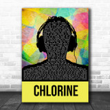 Twenty One Pilots Chlorine Multicolour Man Headphones Song Lyric Wall Art Print