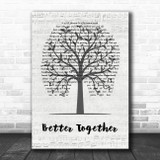 Luke Combs Better Together Music Script Tree Song Lyric Wall Art Print