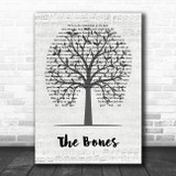 Maren Morris The Bones Music Script Tree Song Lyric Wall Art Print