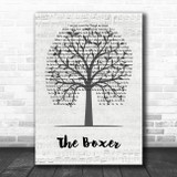 Simon & Garfunkel The Boxer Music Script Tree Song Lyric Wall Art Print