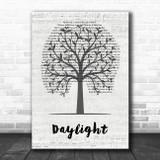 Taylor Swift Daylight Music Script Tree Song Lyric Wall Art Print