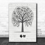 Dave Matthews Band #41 Music Script Tree Song Lyric Wall Art Print
