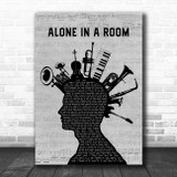 Asking Alexandria Alone In A Room Musical Instrument Mohawk Song Lyric Wall Art Print