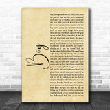 Lee Brice Boy Rustic Script Song Lyric Wall Art Print