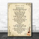 Adam Faith Poor Me Vintage Guitar Song Lyric Wall Art Print