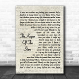 Tracy Byrd The Keeper Of The Stars Vintage Script Song Lyric Wall Art Print