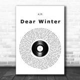AJR Dear Winter Vinyl Record Song Lyric Wall Art Print