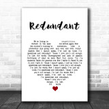 I/'ll Stand By You White Heart Song Lyric Art Gift Print