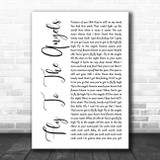 Slaughter Fly To The Angels White Script Song Lyric Wall Art Print