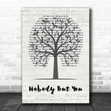 Blake Shelton Nobody But You Music Script Tree Song Lyric Print