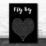 Blue Fly By Black Heart Song Lyric Print