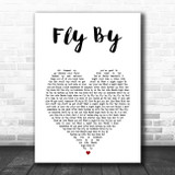 Blue Fly By White Heart Song Lyric Print