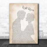 Bob Seger Night Moves Man Lady Bride Groom Wedding Song Lyric Print