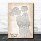 Bon Jovi Thank You For Loving Me Mother & Child Song Lyric Print