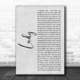 Brett Young Lady White Script Song Lyric Print