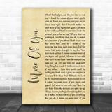 Chris Stapleton More Of You Rustic Script Song Lyric Print