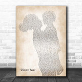 Coby Grant Winter Bear Mother & Child Song Lyric Print