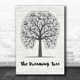 Dave Matthews Band The Dreaming Tree Music Script Tree Song Lyric Print